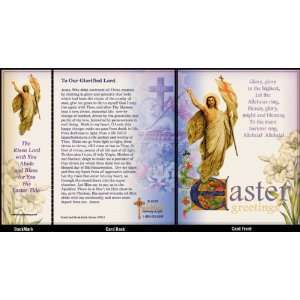 Easter Note Card With Detachable Bookmark   Risen Lord