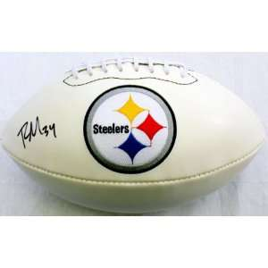 Rashard Mendenhall Signed Steelers Logo Ball   GAI