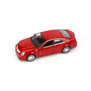 43 Diecast Model Car 2009 Cadillac CTS V, Crystal Red Toys & Games