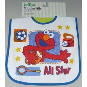 Sesame Street Baby Infant Toddler Bib Elmo Sports Theme Baby