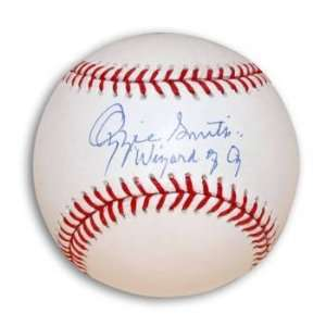 Ozzie Smith Signed MLB Baseball Inscribed Wizard of Oz