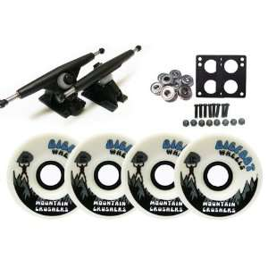 Randal 180 BLACK LONGBOARD TRUCKS 76mm CRUSHERS Wheels