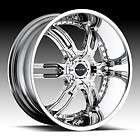 20 Elite Carnal CHROME Wheel & Tire Package RIMS 5 LUG