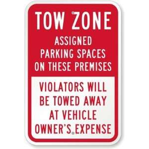 Tow Zone Assigned Parking Spaces On These Premises