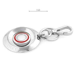 119 CHOICE BY CHIMENTO Vibrant New Key Ring in Red Enamel and