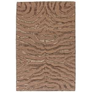 Highlights 4 Foot x 6 Foot Wool + Viscose Area Rug, Chocolate Home