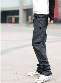 New Mens Stylish Slim Fit Checked Trousers Pants PA14