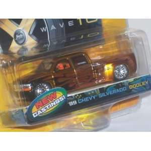 Jada Dub City Gold 1999 Chevy Silverado Dooley 164 Scale