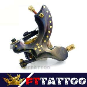 Pro Handmade Damascus Tattoo machine gun Shader Ftt