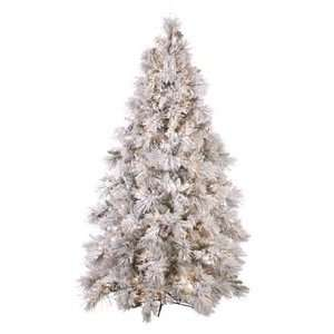 Pre Lit Christmas Tree Frosted Long Needle 7.5
