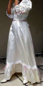 BELLE COLONIALWHITE CIVIL WAR REENACTMENT GOWN WEDDING Bridal DRESS
