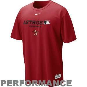 Nike Houston Astros Brick Red Dri FIT Team Issue