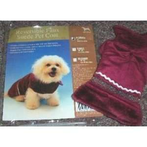 Reversible Faux Suede Pet Coat   X Small Dog