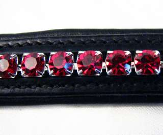 FSS 6mm Crystal SIAM RUBY RED WINE Bling Browband MADE WITH SWAROVSKI
