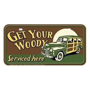 Metal Novelty Car License Plate Woody Service Everything