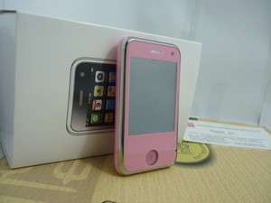 unlock Mini Phone touch AT&T mobile phone H108+ Dual SIM cards FM Pink