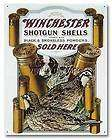 nostalgic tin metal sign winchester hunting shotgun shells dog quail