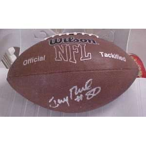 Rice Hand Signed Autographed San Francisco 49ers Wilson MVP Football