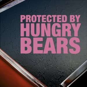 Protected By Hungry Bears Pink Decal Truck Window Pink