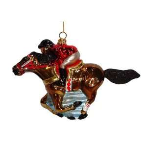 With Jockey Polonaise Christmas Ornament 4.5 #AP0131