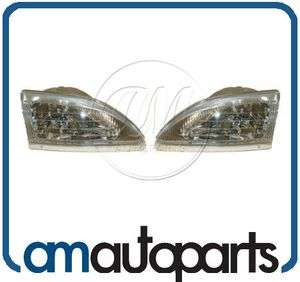 94 98 Ford Mustang Cobra Headlamps Headlights Left LH & Right RH Pair