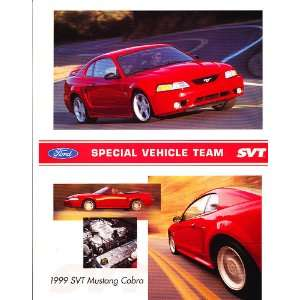 1999 Ford Mustang SVT Cobra Original Sales Brochure Sheet