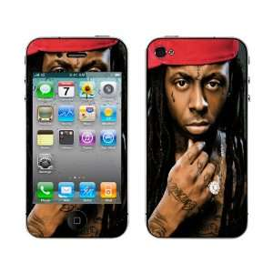 Meestick Lil Wayne Vinyl Adhesive Decal Skin for iPhone 4