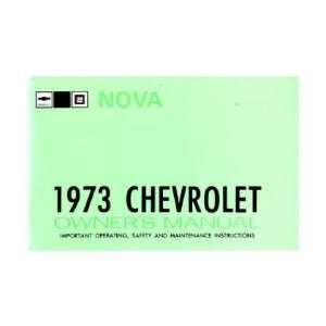 1973 CHEVROLET NOVA Owners Manual User Guide Automotive