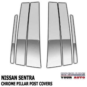 2007 2011 Nissan Sentra Chrome Pillar Post Covers