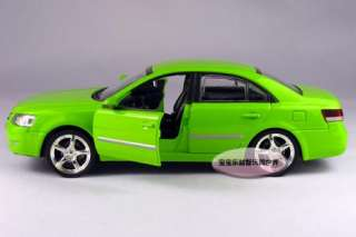 New Hyundai Sonata 132 Alloy Diecast Model Car With Sound&Light Green
