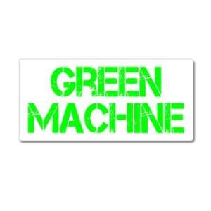 Green Machine   Hybrid Car   Window Bumper Sticker