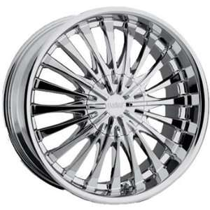 Cruiser Alloy Superstar 24x9.5 Chrome Wheel / Rim 6x5.5 with a 15mm