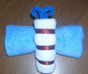 MINI~ WASHCLOTH BUTTERFLY SHOWER FAVOR~GIFTS BY JAYDE