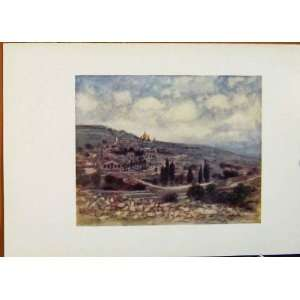 Mount Of Olives Holy Land World Pictures Antique Print