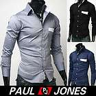 Mens Fashion Stylish Slim Fit Designer Casual Formal Dress Shirts