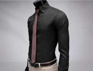 You look cool Mens Fashion Stylish Slim Fit Designer Casual Striped