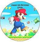 SUPER MARIO BROS EDIBLE ICING CAKE DECORATION IMAGE BIRTHDAY PARTY