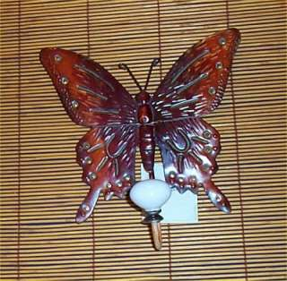 Tin Butterfly Wall Hook Yard Art Inside or outside Wall