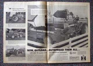 1958 International Harvester Farmall Tractor Ad F 460