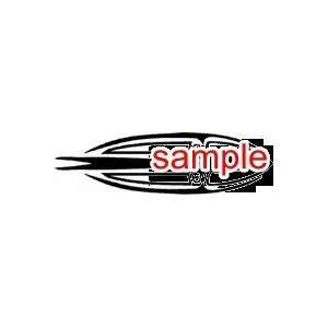 RANDOM INDIAN SPEAR 10 WHITE VINYL DECAL STICKER
