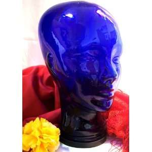 Blue Glass Mannequin Head MAN