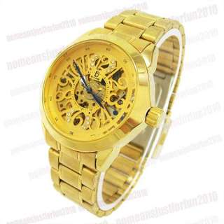 Automatic Mechanical 18K Gold Plate Mens Watch M488J