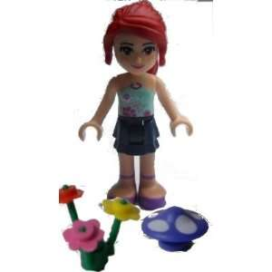 Lego Friends, Loose Mini Figure Mia, Dark Blue Layered
