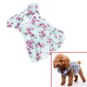 Pet Dog Floral Dress Clothes Apparel Size L