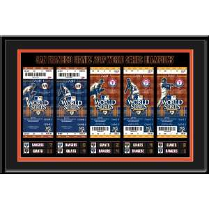 Tickets to History Framed Print   San Francisco Giants
