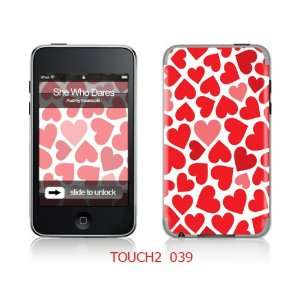 iTouch 2nd Generation Skin Decal Sticker   Small Red