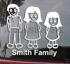 Stick People Family of Six Dad Mom Boy Girl Dog Cat