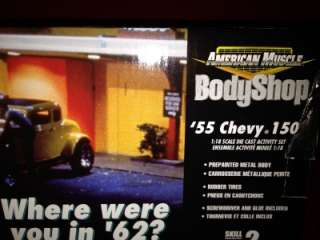 1955 CHEVY 150 BY AMERICAN GRAFFITI BODYSHOP NEW MODEL  1/18 SCALE DIE