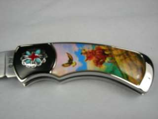 THE SPRIT OF THE EAGLE FOLDING KNIFE FRANKLIN MINT