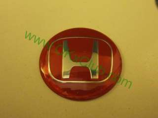 JAPAN Honda RACING RED Wheel Center Caps Car Sticker